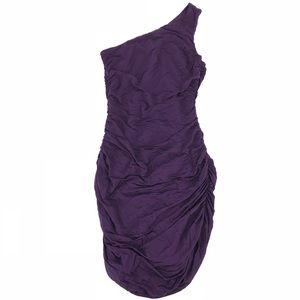 🛍 H&M Sexy Purple Bodycon One Shoulder Dress